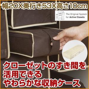 2枚までメール便対応 クローゼットのすき間収納に 不織布製のソフトケース スペースフィットケースS10|shuno-su