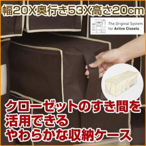 2枚までメール便対応 クローゼットのすき間収納に 不織布製のソフトケース スペースフィットケース S20|shuno-su
