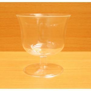 【脚付き】ワイングラス風 プラスチックカップ 125cc 100個セット|shusakesakebumon