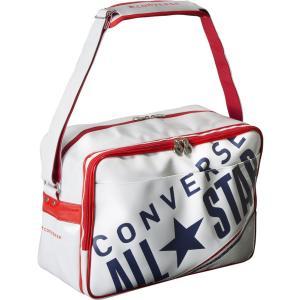 コンバース CONVERSE バッグ エナメル ショルダー L C1612052 ホワイト ネイビー