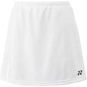 Yonex ヨネックス ガールズ テニスウェア ジュニアスカート インナースパッツ付 26046J ホワイト|スポーツヒーローZ PayPayモール店
