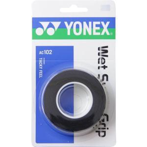 ヨネックス Yonex ウェットスーパーグリップ 3本入 AC102 ブラック
