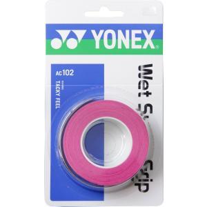 ヨネックス Yonex ウェットスーパーグリップ 3本入 AC102 ピンク P