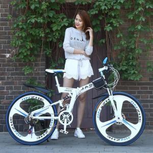 クロスバイク マウンテンバイク ショックアブソーバー付き 折りたたみ自転車 24インチ 26インチ 8色 6段ギア カギ付き  メンズ レディース 通勤 通学 街乗り|si-susyoltupu