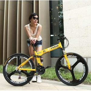 クロスバイク マウンテンバイク ショックアブソーバー付き 折りたたみ自転車 24インチ 26インチ 5色 6段ギア カギ付き メンズ レディース 通勤 通学 街乗り|si-susyoltupu