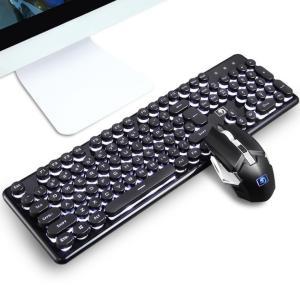 無線 充電式マウス キーボード コンパクト パソコン PC 周辺機器 省エネ 無線機 USB ワイヤレス 静音マウスセット LEDバックライト付き|si-susyoltupu