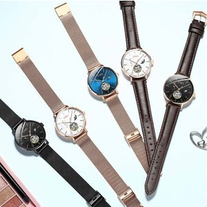 腕時計 レディース 自動巻き  レディースウォッチ スケルトン 本革 ステンレススチール 30m防水 時計 腕時計 ステンレスケース  si-susyoltupu
