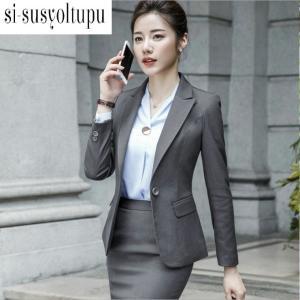 レディーススーツ上下スーツ スカート パンツ3点セット OL通勤 面接  ビジネス オフィス/フォー...