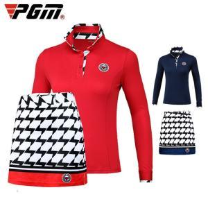 ゴルフ レディース ポロシャツ スカート セットアップ 長袖 スポーツウェア ゴルフウェア シャツ テニス バドミントン|si-susyoltupu
