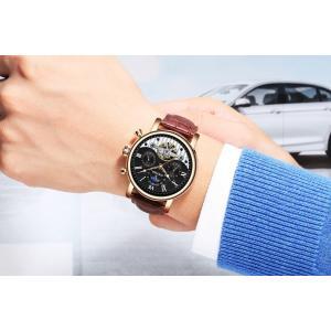 腕時計 メンズ 自動巻き メンズウォッチ スケルトン 天然ダイヤ 30m防水 時計 腕時計 ステンレスケース 送料無料 si-susyoltupu