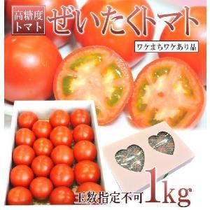 訳あり フルーツトマト とまと  1kg ぜいたくトマト 長...