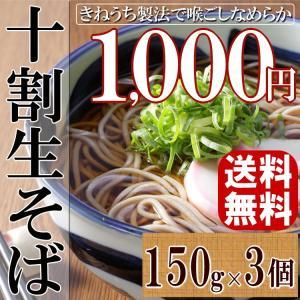 ポイント消化 送料無料 1000円 杵打ち製法 ざるそば かけそば もりそば 十割 生そば 蕎麦 十割そば 450g 3人前 メール便