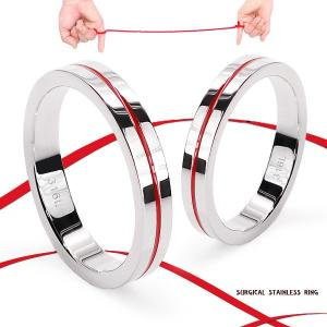 指輪 ステンレス リング  レディース メンズ レッドライン  サージカルステンレスとは医療用ステン...