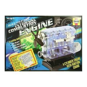 エンジン模型 Haynes 1/4 内燃機関(直列4気筒) 透明モーターライズ|sieikan
