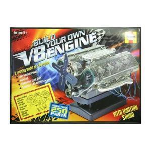 エンジン模型 Haynes 1/4 V型8気筒エンジン 透明モーターライズ|sieikan