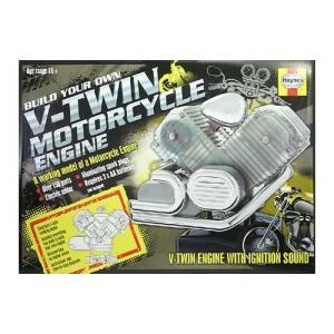エンジン模型 Haynes 1/4 V型2気筒オートバイエンジン 透明モーターライズ|sieikan