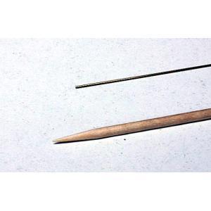 超極細真鍮パイプ  外径 0.5mm 内径 0.35mm|sieikan