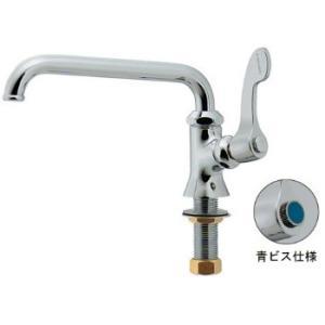 カクダイ 厨房用立形自在水栓 青ビス仕様 700-707-13B【700-707-13B】|sigitaweb