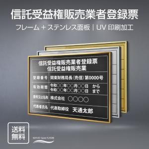 液化石油ガス販売事業者証 選べる額の色 ステンレスカラー 書体種類  520×370mm UV印刷 ...