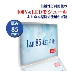看板 LEDファサード/壁面看板 薄型内照式W900mm×H450mm LMU-10002|signkingdom