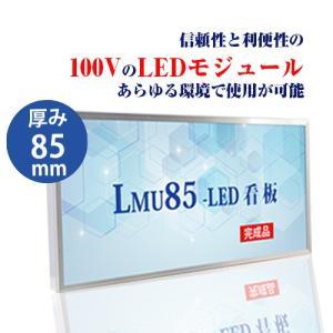 看板 LEDファサード/壁面看板 薄型内照式W1300mm×H450mm LMU-10003|signkingdom