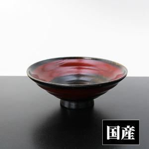平椀 黒拭漆 赤一筆 (木製 漆器 浅椀 飯椀 漆塗り 国産)|sikkiya