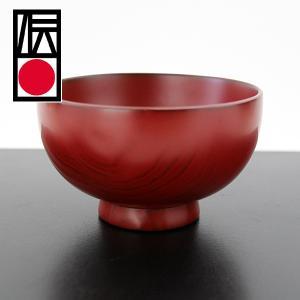 越前漆器 汁椀 栗 古代朱 畠中作 (木製 お椀) sikkiya