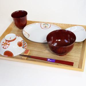 子供食器セット 安心安全 木製 漆塗り 飯椀 箸 汁椀 鉢 スプーン 兵左衛門 国産 日本製|sikkiya