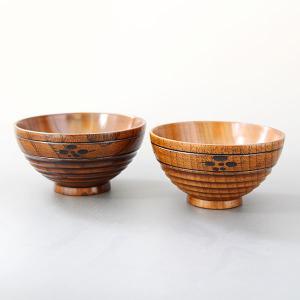 夫婦 飯椀 飯碗 梅彫 漆塗り ペア 木製 お椀 ご飯茶碗|sikkiya