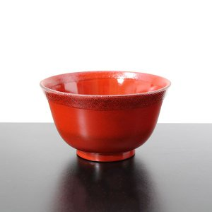 飯椀 羽反り布貼り 根来 (木製 漆塗り 漆器 お椀)|sikkiya