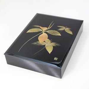 漆器 文箱 二人静か 内布貼り (文庫 御祝 内祝い)|sikkiya
