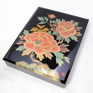 文箱 牡丹 (文庫 御祝 内祝 漆器)|sikkiya