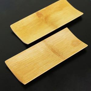 おしぼりトレー おしぼり受け 竹舟型 5個 木製 おしぼり置き|sikkiya