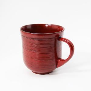 刷毛目 マグカップ 根来漆塗り 木製 漆器 カップ コップ