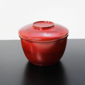 蓋付き 飯椀 根来 (漆器 木製 汁椀 お椀 漆塗り)|sikkiya