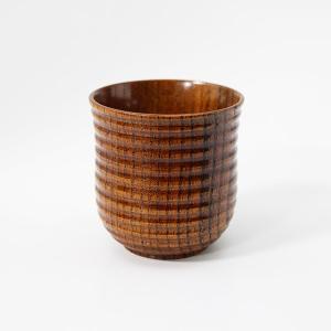 筋彫り 湯呑み 漆塗り 木製 漆器 湯のみ カップ