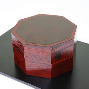 重箱 二段 八角 根来塗り 2段 8角 木製 漆器 漆塗り 小さい ミニ お重