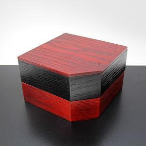 重箱 姫 二段  塗り分け 木製 漆器 漆塗り 小さい ミニ お重 特別価格|sikkiya