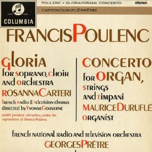 <中古LPレコード>プーランク:グローリア,Org・弦楽とティンパニー協奏曲|silent-tone-record