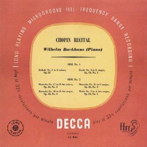 <中古LPレコード>ショパン:バラード1番Op.23,マズルカ(3曲),練習曲Op.10−3,ワルツ|silent-tone-record