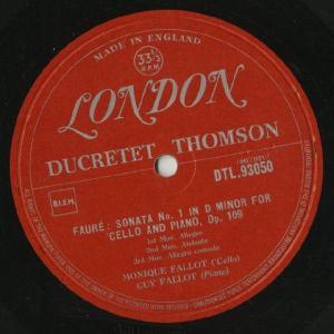 <中古LPレコード>フォーレ:チェロ・ソナタ1番Op.109,2番Op.117|silent-tone-record|03
