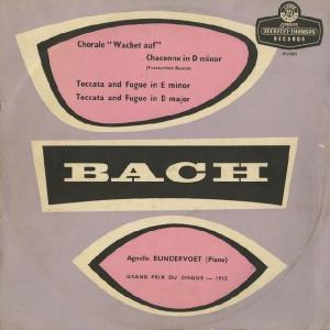 <中古LPレコード>「バッハ・リサイタル」目覚めよと呼ぶ声あり,シャコンヌ(無伴奏Vnパルティータ2番B.1004),トッカータB.912・914