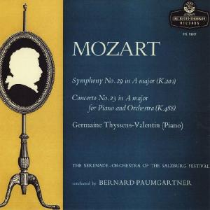 <中古LPレコード>モーツァルト:交響曲29番K.201,Pf協奏曲23番K.488