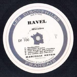 <中古LPレコード>ラヴェル:鏡,夜のガスパール,水の戯れ,パヴァーヌ,クープランの墓 他|silent-tone-record|02