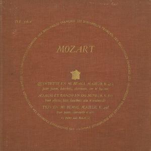 <中古LPレコード>モーツァルト:Pf・木管のための五重奏K.452, アダージョとロンドK.617,ClトリオK.498