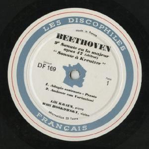 <中古LPレコード>ベートーヴェン:Vnソナタ6,7,9,10番 silent-tone-record 02