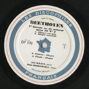 <中古LPレコード>ベートーヴェン:Vnソナタ6,7,9,10番 silent-tone-record 03
