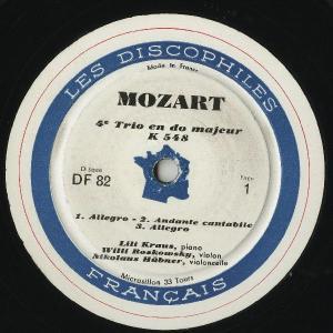 <中古LPレコード>モーツァルト:Pfトリオ(全7曲)/K.254,442,496,502,542,548,564|silent-tone-record|02