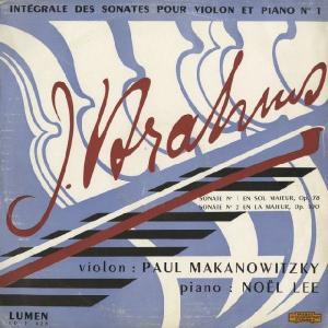 <中古LPレコード>ブラームス:Vnソナタ1番Op.78,2番Op.100