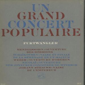 <中古LPレコード>「ポピュラー・コンサート」メンデルスゾーン:序曲「フィンガルの洞窟」,チャイコフスキー:セレナーデOp.48〜2曲,他 silent-tone-record